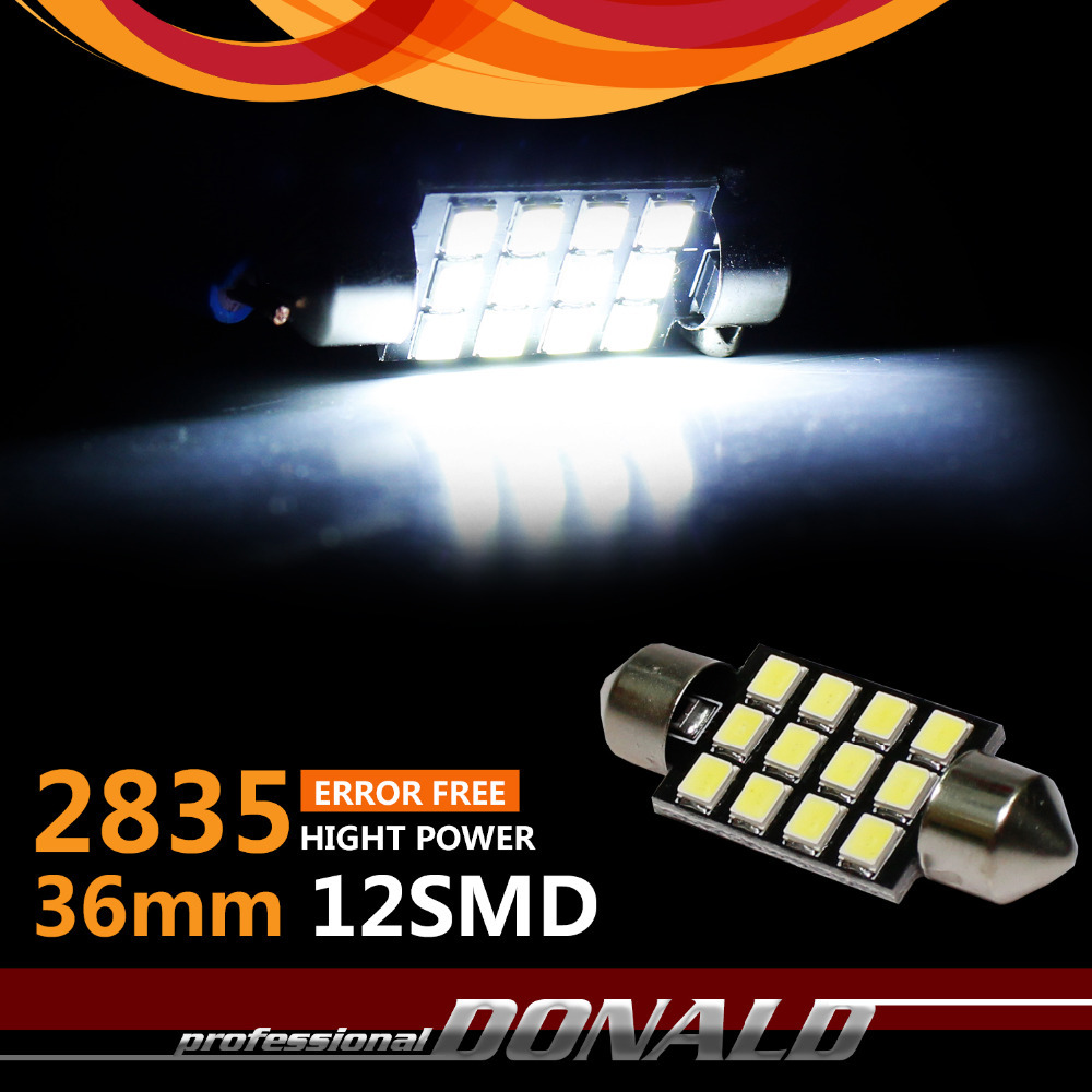Promotion!!! 4x White CREE 36mm 2835 9SMD 12V DC CANBUS ERROR FREE LED Festoon C5W Car Truck Auto Roof Dome Map Cargo Area Light(China (Mainland))