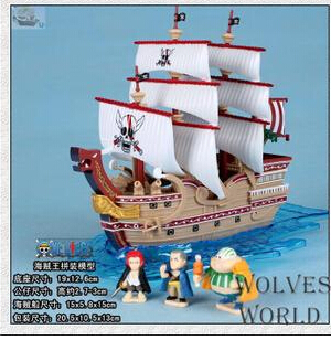 The red ship model animation toys wholesale Reid 'shanks model ornaments(China (Mainland))