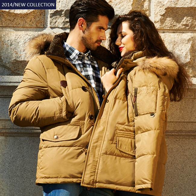 Down Jackets 2015 Parka Fashion Brand Men s Sports Snow Winter Coats Free Shipping Big Fur