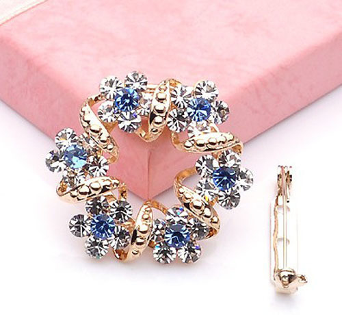 beautiful Korean Brooch Jewelry Luxury Rhinestone Garland Scarf Clip Brooches Pin Women Lady Hot - Tony Romantic store