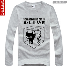 The BIG BANG THEORY Sheldon Cooper Schrodinger 's Cat T-shirt Tee  In 2014 the new free shipping