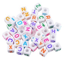 Buy MJARTORIA 100PCs Random Mixed Square Acrylic Beads Alphabet Letter Beads Jewelry Making DIY Craft Charms Bracelets 8x8mm for $1.99 in AliExpress store