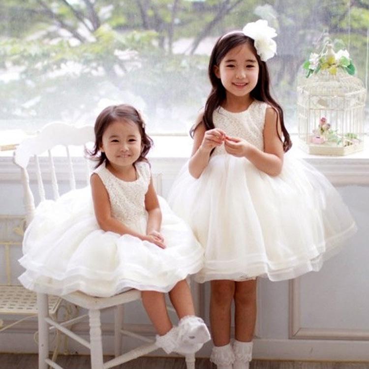 Sleeveless princess costumes children party dress ball gown girl pageant dresses girls verano vestidos de fiesta HA129 - Qocean store