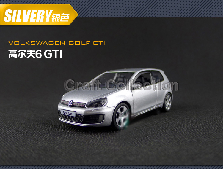 Silver 1:36 Volkswagen Golf 6 GTI Hatchback Alloy Model Diecast Show Car Classic toys Scale Models Top Selling(China (Mainland))