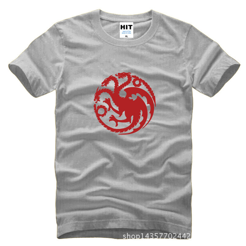 Tide Brand T Shirt Men Game of Thrones Song of Ice and Fire Dragon Symbol 3D Cotton TShort Casual Deadpool Fitness Clothing Tees(China (Mainland))