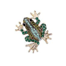 Hot 2016 Fashion Jewelry Cyrstal Rhinestone Frog Brooches For Women Wedding Men Lapel Pin Vintage Broches Mujeres Moda For Women