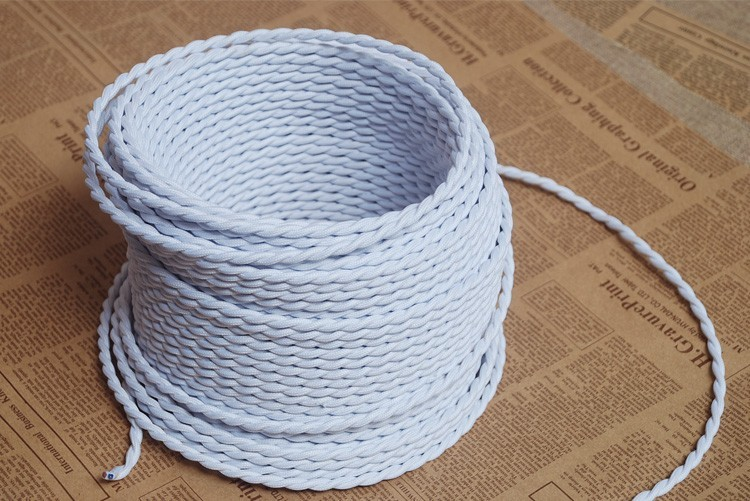 2018 Wholesale 10m2 0 75 Copper Cloth Covered Wire Vintage
