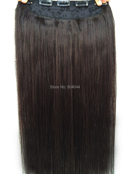 "free shipping 16""-28"" 1pcs set #2 silky soft indian remy hair clips in/on human hair extensions 70g 80g 100g 120g 140g 160g"