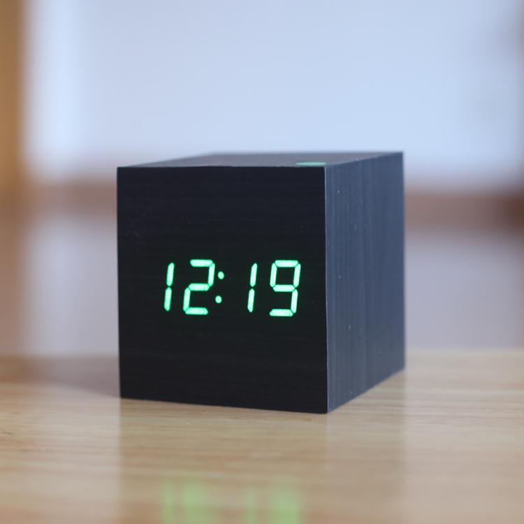 Cube shape Mini digital LED alarm clock,Kids wake up timer Hot sale novelty electronic Vintage table relogio despertador wekker(China (Mainland))