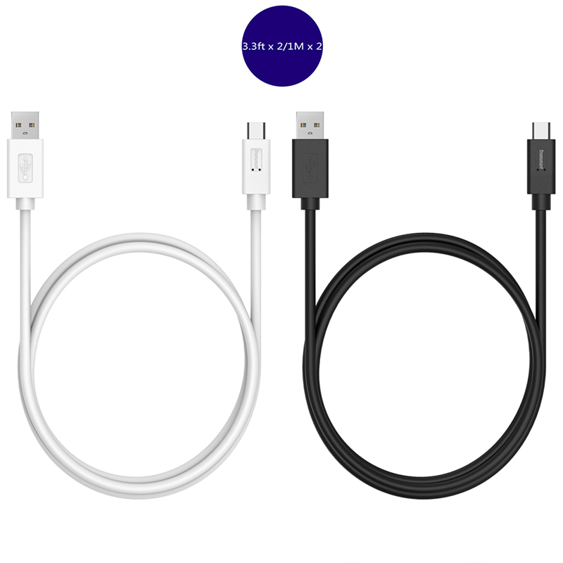Tronsmart CC04P Type-C to Type-A 2.0 Male Sync Charging Cable 1M for Xiaomi 5 for Lenovo Zuk Z1 for OnePlus 2 for MeiZu Pro6