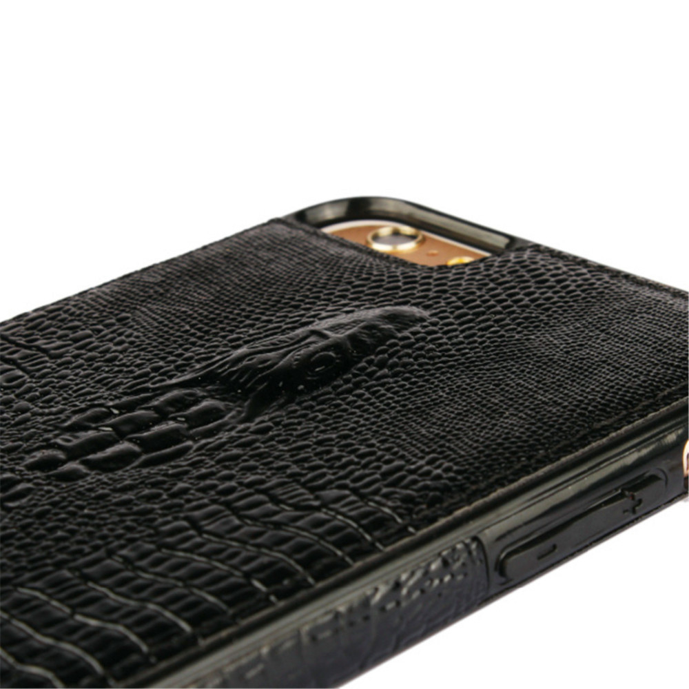 Luxury Genuine Real Leather Phone Case Cover For iPhone 6S Case Accessories Crocodile Head Pattern Leather Case For iPhone 6S