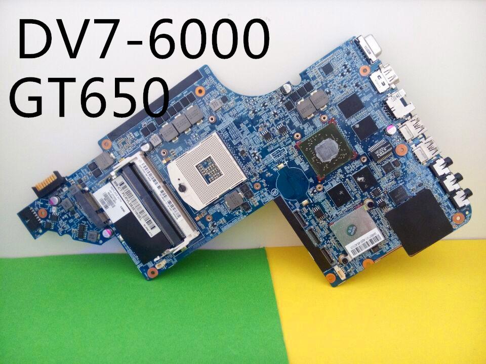 100%Tested! Free shipping laptop motherboard 665991-001 for hp Pavilion DV7 DV7-6000 System Board PCA HM65 6770/2G QUA- DSC