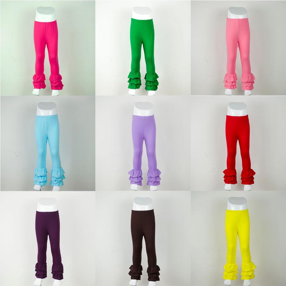 Girls Ruffle trousers winter Children Comfortable Cotton Kids Candy Solid leggings Girls pants 0-12T baby Girls ruffle Pants(China (Mainland))