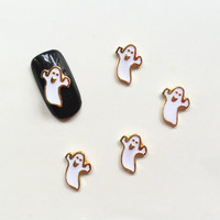 2015 Japan Clou 50pcs/bag Metal 3D Nail Art Decoration Ghost Style Nail Polish Sticker Nail Tools For Halloween Party
