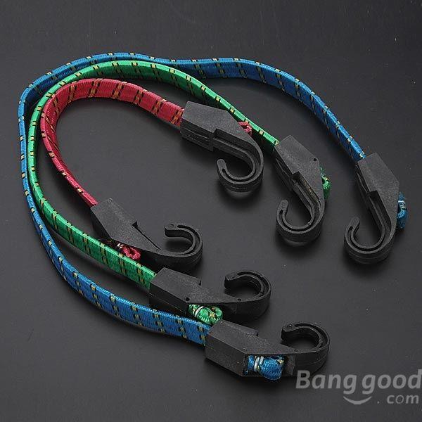 BlueFlame 3 x Cycling Bicycle Bike Hook Elastic Rope Luggage Strap 28 45 62cm(China (Mainland))