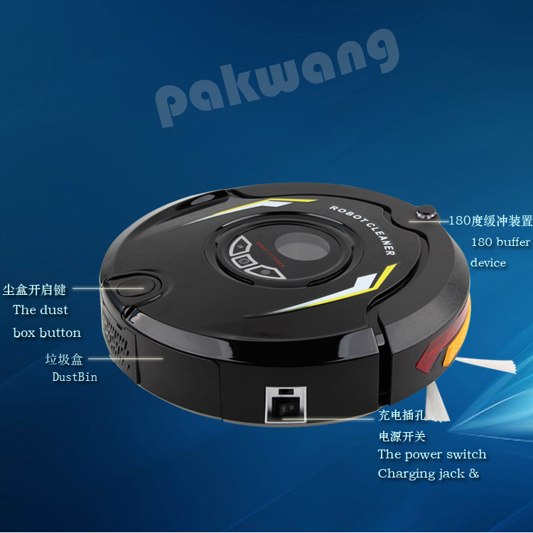 mini multicfunction Robotic Robot Vacuum Cleaner for home,wet and dry automatic robotic,duct cleaning robot(China (Mainland))
