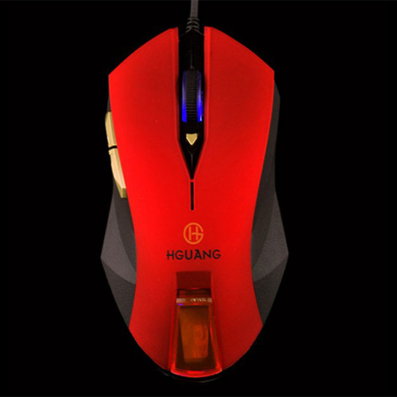 Hot-sale Red 6 Buttons 1.5m Cable Professional 2400DPI Optical Wired Gaming Mouse For Computer Games PC Laptop Gifts 1 pc(China (Mainland))
