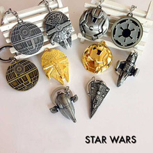 Star Wars 7 Spacecraft warship keychain toys 2016 New Force Awaken Millennium Falcon /Imperial Star Destroyer minifigure toys