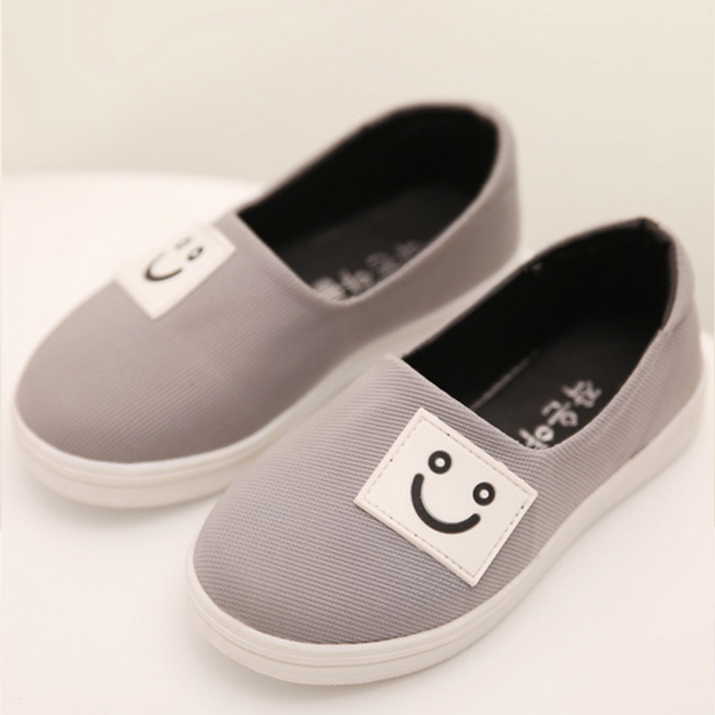 Children Canvas Shoes Boys Girls Fashion Sneakers Smile Pedal Casual Shoes Lazy Cute Spring 2015 Kids Shoes S110282(China (Mainland))