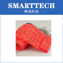 red color keyboard silicone cover , rubber moulding(China (Mainland))
