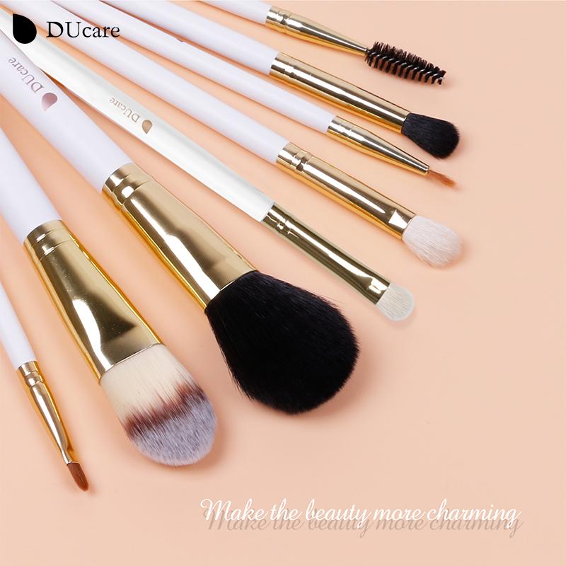 DUcare Brand makeup brushes 8pcs Foundation Brush Blusher Powder Eyeshadow Blending Eyebrow Eyeliner Lip Brushes(China (Mainland))