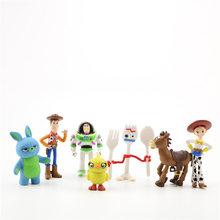 Disney PVC action figure Toy Story 4 mãos para fazer 7/PCS Hu Di Bu Siguang Tsui seda abraço dragão ornamentos brinquedo Brinquedo para crianças(China)