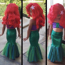 New Arriving 2016 Two Pieces Children Baby Girls Little Mermaid Tail Bow Bikinis Set 2pcs Costume Swimwear Outfits Dress Cute