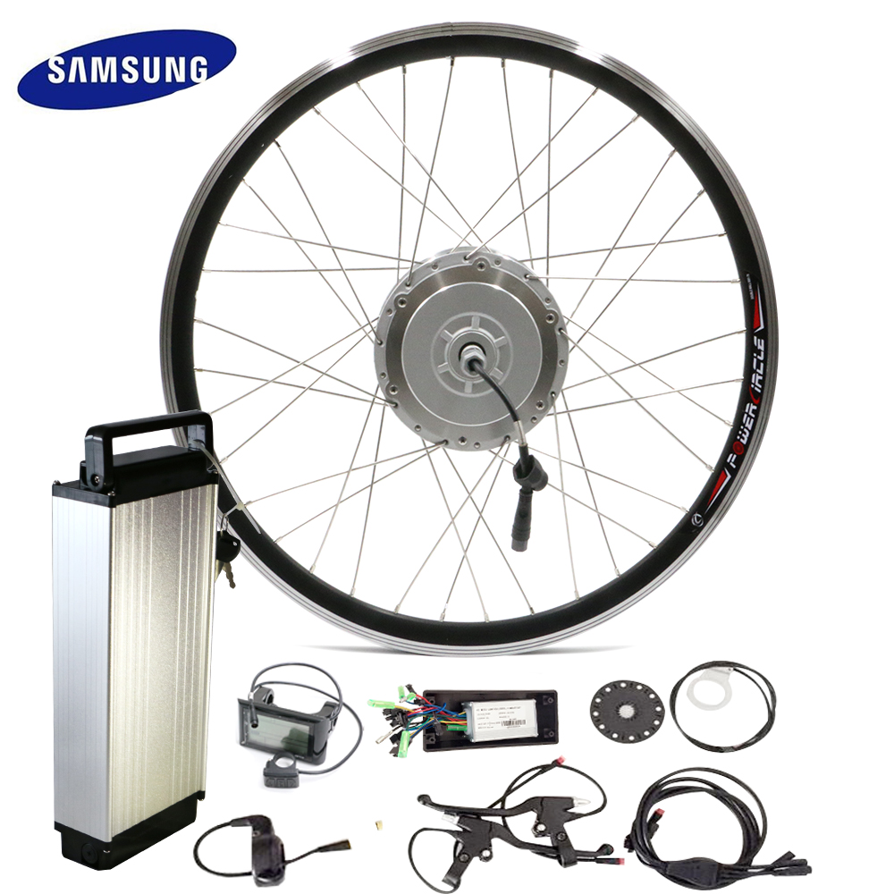 48V 250W 350W 500W Hub Motor with Rear Rack Battery 10-20ah for 700c Wheel LCD Controller PAS Bicycle Ebike E-bike Kit(China (Mainland))