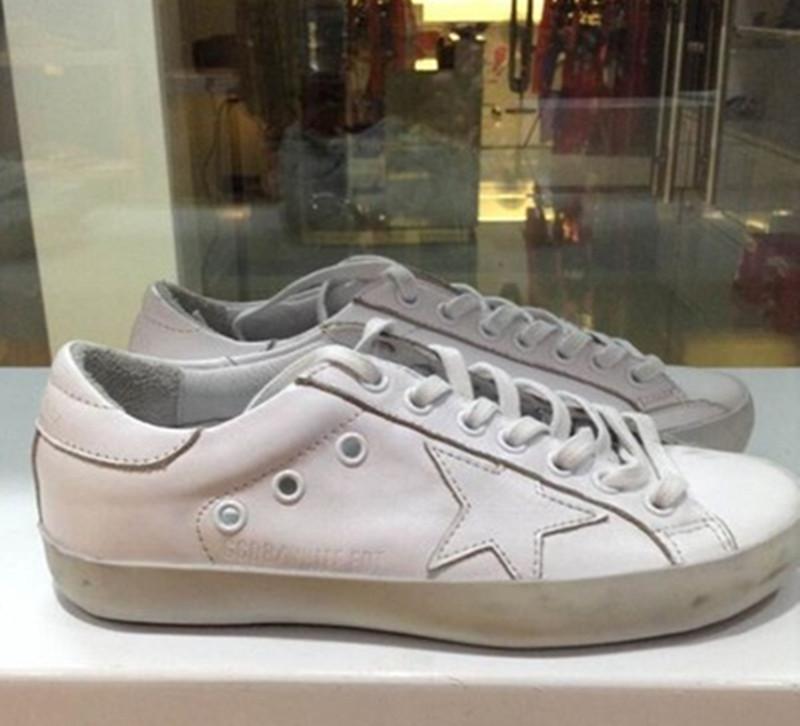 2015 Spring Brand Golden Goose Superstar Sneakers Men Women Genuine Leather Designer GGDB Shoes Scarpe 100% ORIGINAL ITEM