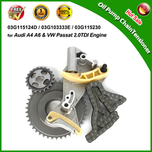 -FREE SHIPPING in UK US- Oil Pump Chain Tensioner for Audi A4 A6 & Passat 2.0TDI  03G115124D, 03G103333E, 03G115281D, 03G105173(China (Mainland))