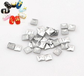 Free Shipping 10000pcs/lots Aluminium Tone Metallic Nail Art Decoration Studs Tips Metallic Nail Studs Drop 3x3mm (W02567c)