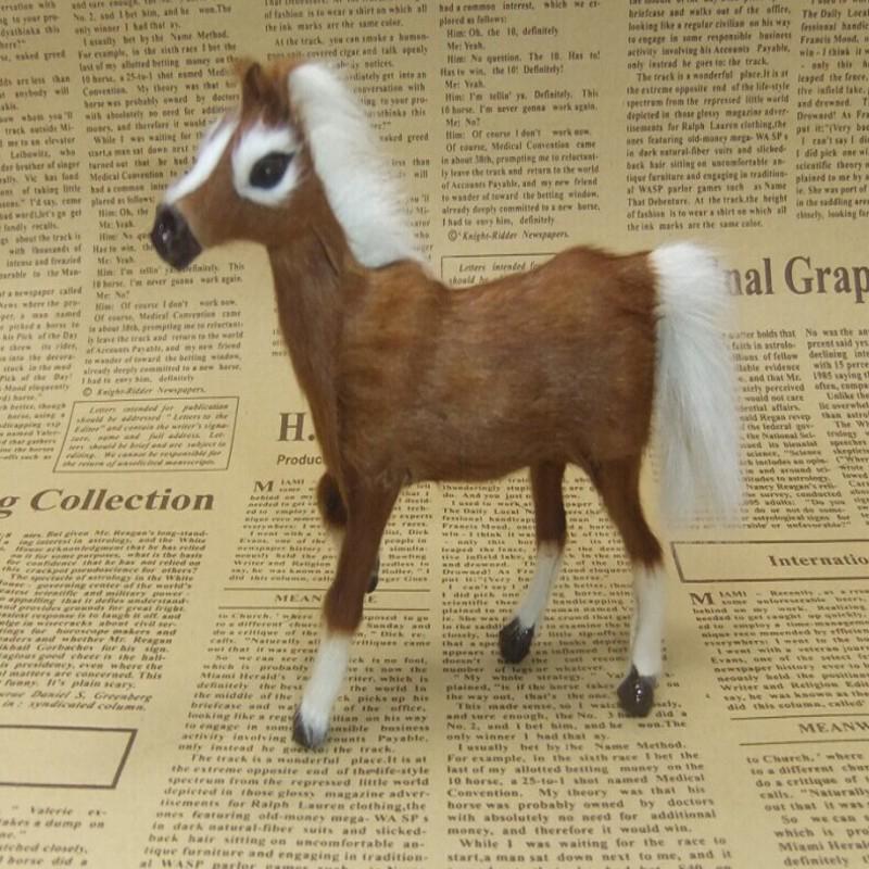 Free Shipping Horse Pets animal Toy/Advanced Simulation standing Horse Plush toys Pet simulation Companion Stuffed Animals child(China (Mainland))