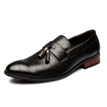 italian handmade mens pointed toe dress formal genuine leather 2016 unique tassel loafers with bow designer oxford shoes for men