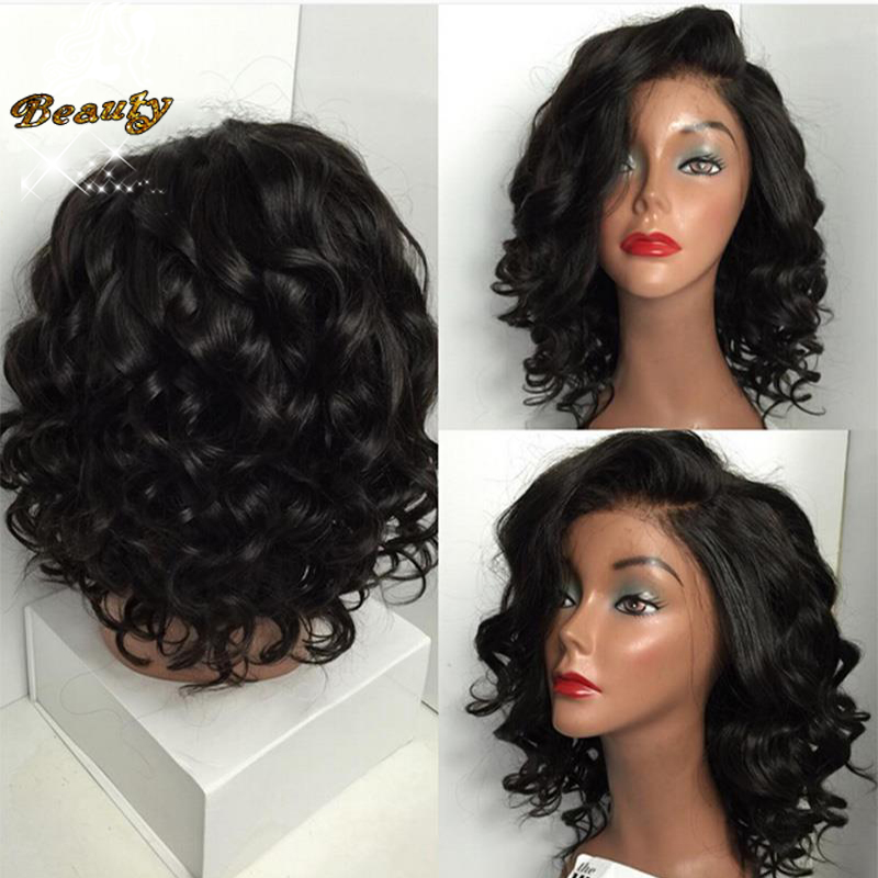 7A Full Lace Front Human Hair Wigs Brazilian wavy Lace Front Wig With Baby Hair Human Hair Lace Front Wigs Black Women Free Ship<br><br>Aliexpress