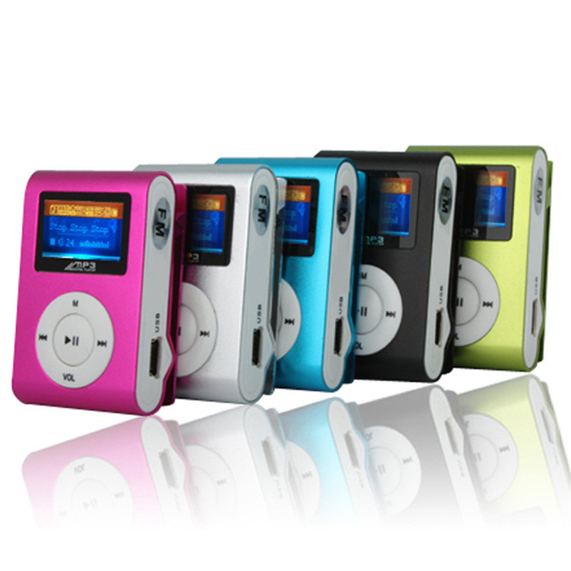 Hot Selling LCD Screen Mini Clip Mp3 Player Electronic Sports Metal Mini MP3 Music Player Support 32GB Micro SD TF Card(China (Mainland))