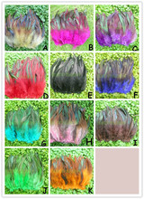 Diy feather accessories multicolor green light feather 15-20cm hair extension feather jewelry making findings 200pcs/lot(MS1269)(China (Mainland))