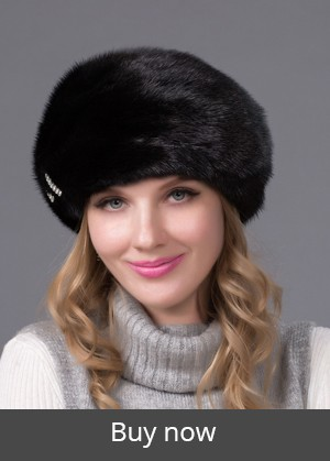 Genuine Winter 2015 Mink Fur Hat cap in women clothing Fur Headdress Warm Fashion Cap Hats Headgear