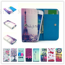Fashion phone cases Cartoon Flower Leather slot wallet pouch case skin cover ZTE Blade V7 Lite - I la store