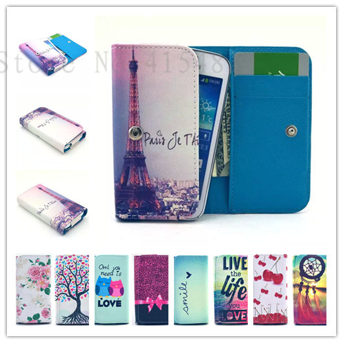 New Fashion phone cases Cartoon Flower Leather slot wallet pouch case skin cover For DEXP Ixion P135 Safari(China (Mainland))