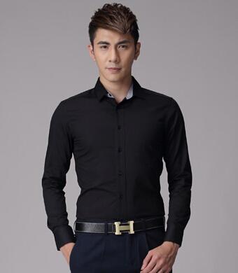 2015 мужская мода рубашки мужчин сплошной цвет рубашки Осень-Весна мужская рубашка ...