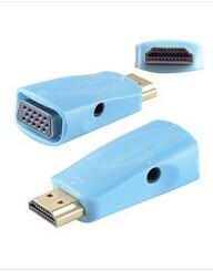 Free Shipping 1 Piece New HDMI Male to VGA RGB Female HDMI to VGA Video Converter adapter 1080P(China (Mainland))