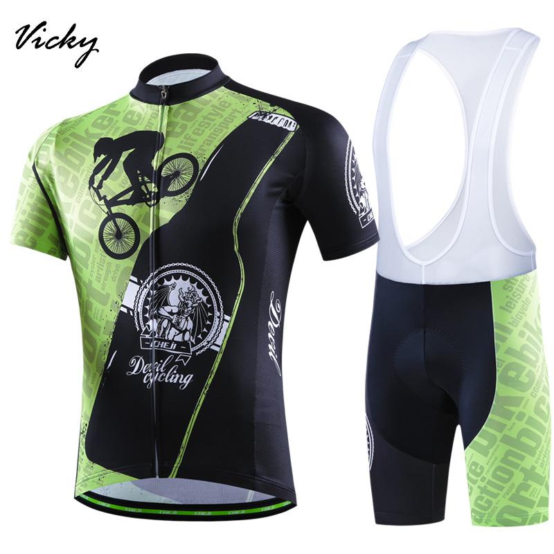 2016 Green Cycling Jersey Bib shots Men Short Sleeve Bicycle Cycling Clothing Bike Wear Shirts Outdoor Maillot Ropa Ciclismo Mtb