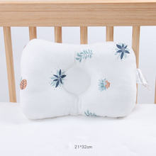 Baby Pillows Newborn Breathable Shapping Pillow Prevent Anti Roll Flat Head Cushion Pillows Plant Infant Girl Boy Baby Bedding(China)