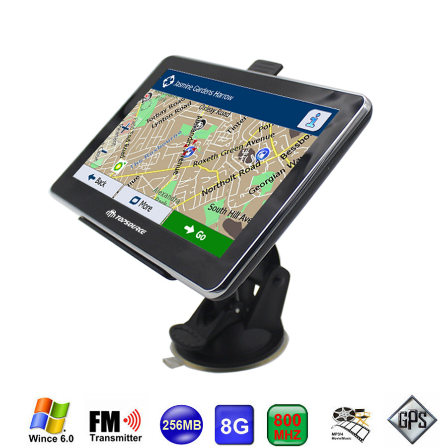 TOPSOURCE 7 inch Auto Car Truck GPS Navigation Windows CE 6.0 8GB /256MB Vehicle GPS Navigator LCD Touch Screen High Definition(China (Mainland))