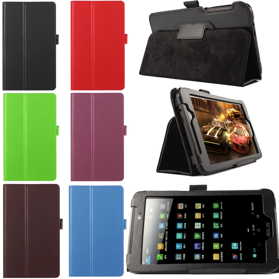 Asus FonePad 7 FE170 FE170CG inch Multi-color Folio PU Leather Case Stand Cover 7'' Tablet Pc Fundas Coque - Shenzhen Aioro Technology Co.,LTD store