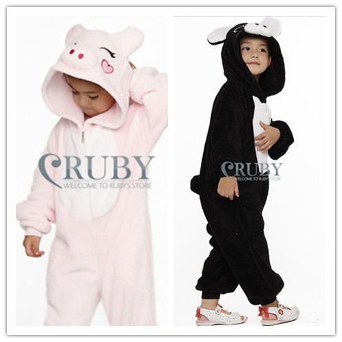 Hot Unisex Children Onesies Fashion Pajamas Animal Pyjamas Anime Cosplay Costumes Sleepwears Kids,Pig - RUBY TOP 2 store