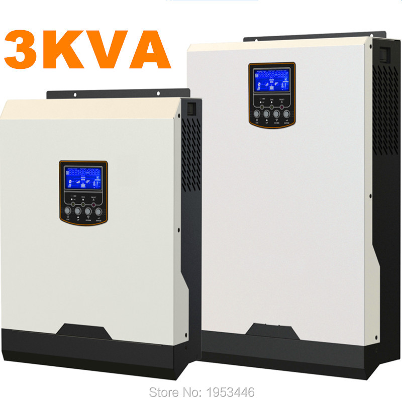 Cool ! Solar Inverter 3Kva 2400W Off Grid Inverter 24V to 220V 50A PWM Inverters Pure Sine Wave Hybrid Inverter 25A AC Charger(China (Mainland))
