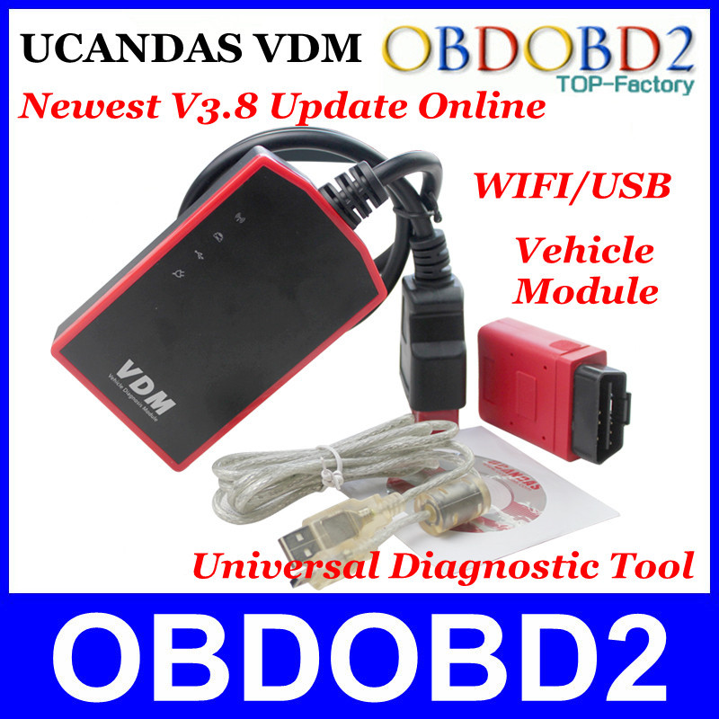 UCANDAS VDM Newest V3.8 Software Update Online 100% Original Universal Vehicle Diagnosis Module Equal to DIAGUN/CDP <br>