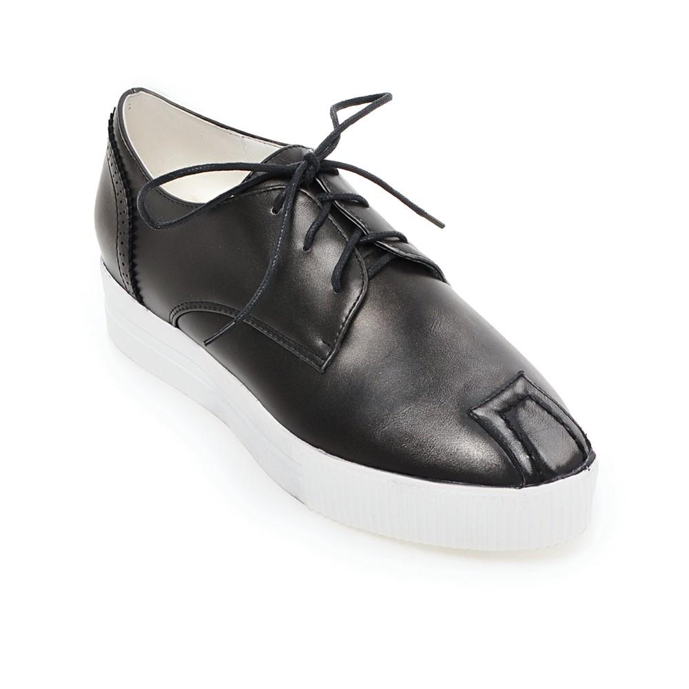 2016 New womens platform shoes lace up paltform shoes rouned toe shoes woman<br><br>Aliexpress