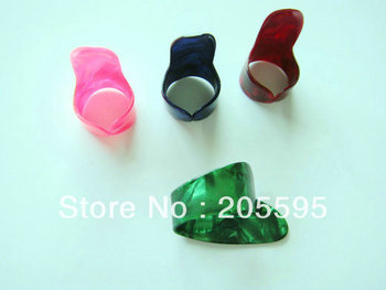 1Set Nice used Plastic 1 Thumb + 3 Finger Nail Guitar Picks Plectrums